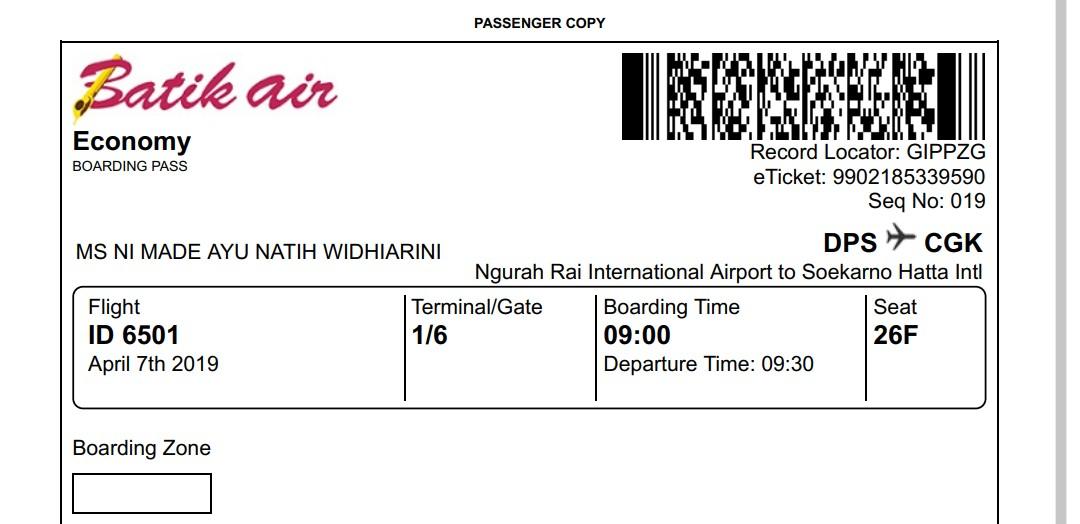 Pengalaman Naik Pesawat Batik Air Natih S Blog
